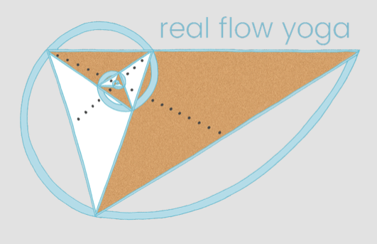 real flow yoga    -  logo illustration