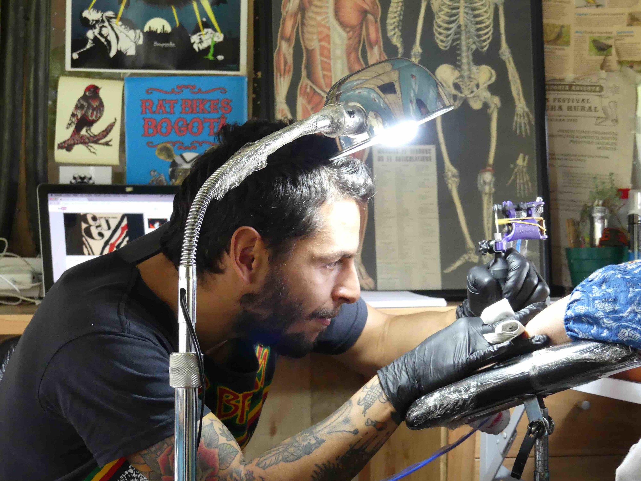 Julián in action