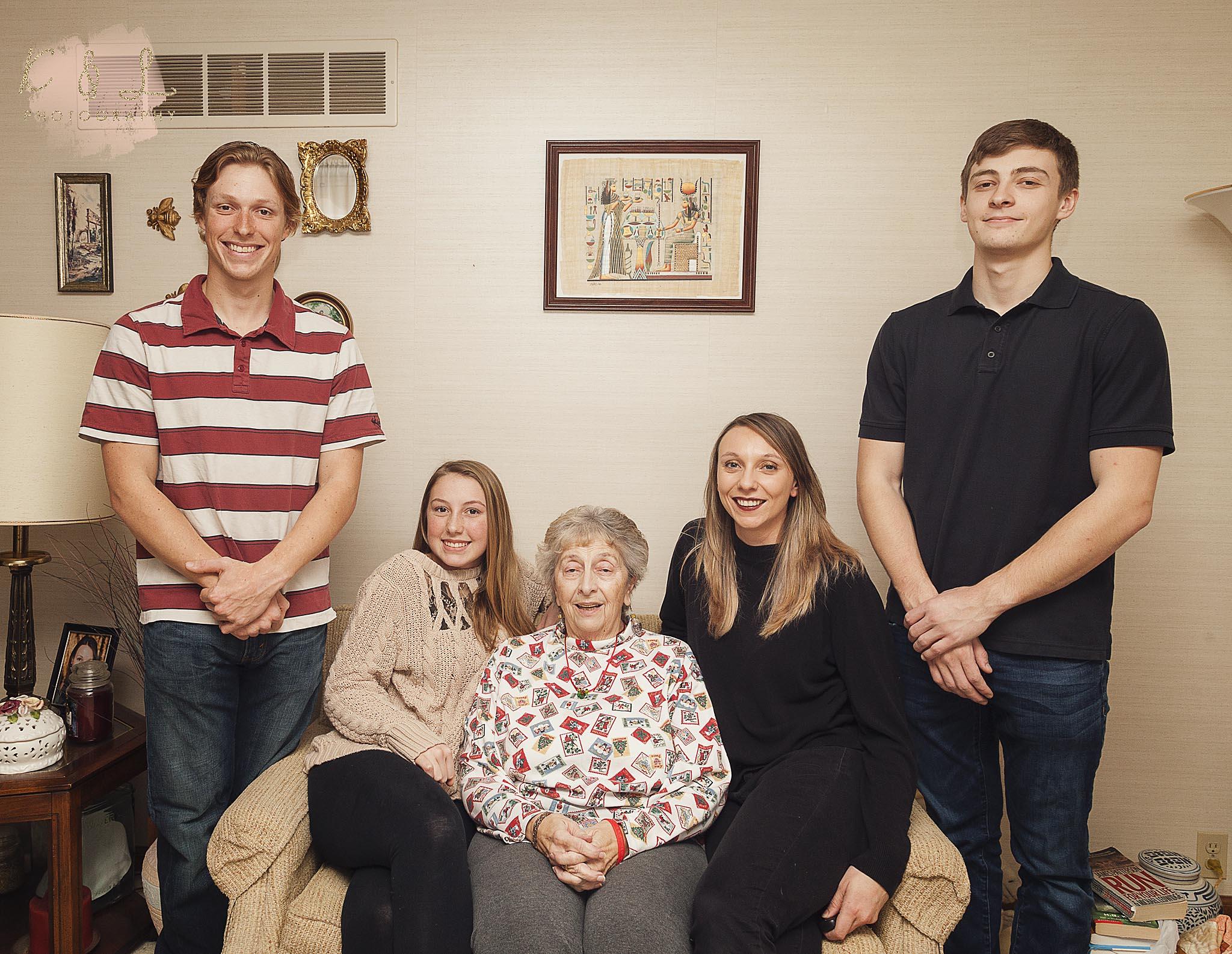 Nana and the grandkids