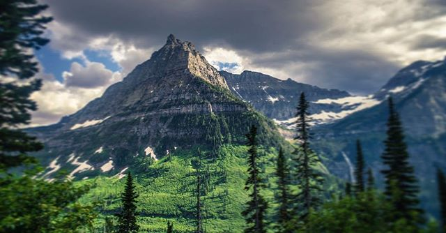 Cool views from the free tour bus in Glacier. Can't wait to go back.