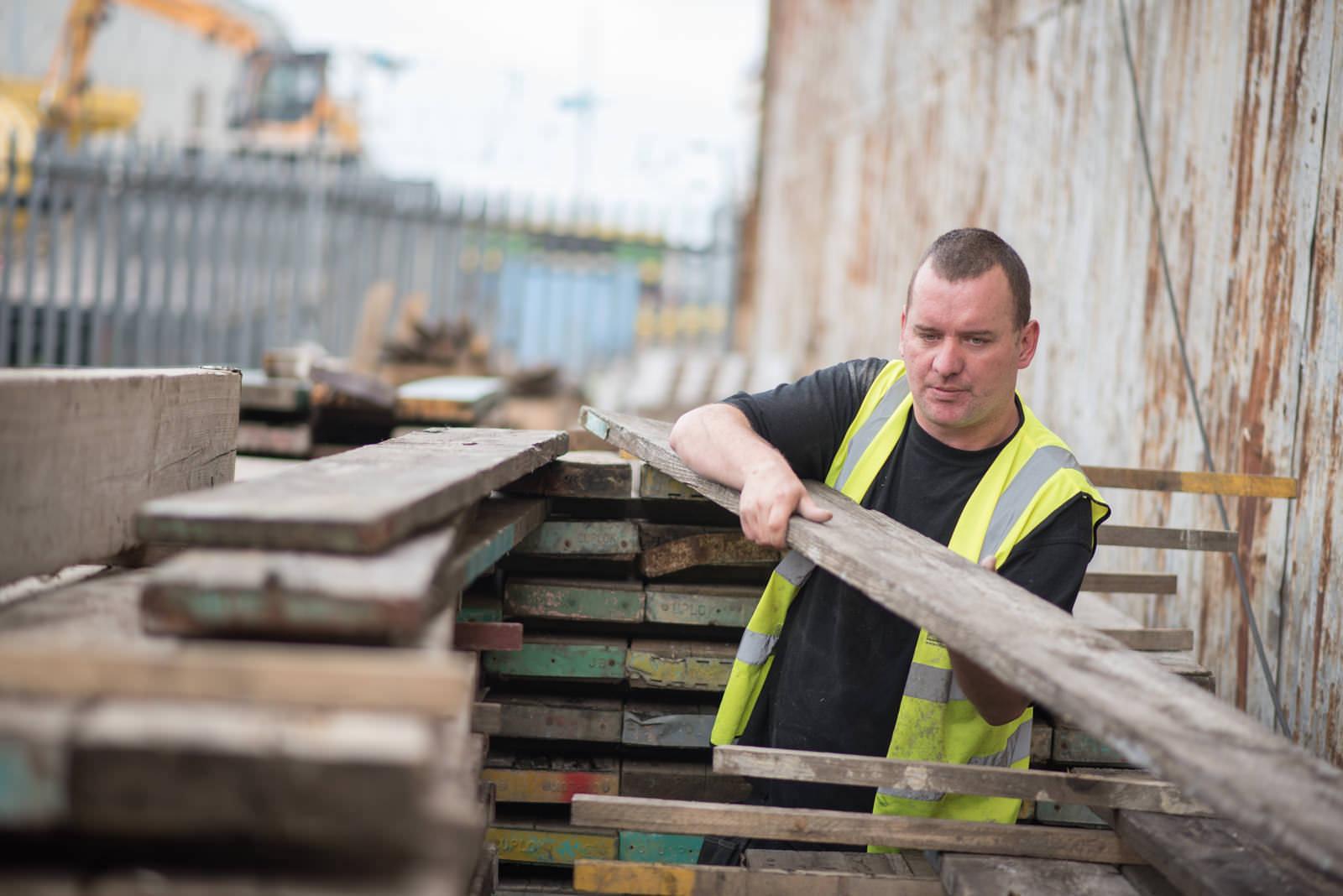 Glasgow Wood Recycling for Glasgow City Marketing Bureau - © Julie Broadfoot - www.juliebee.co.uk