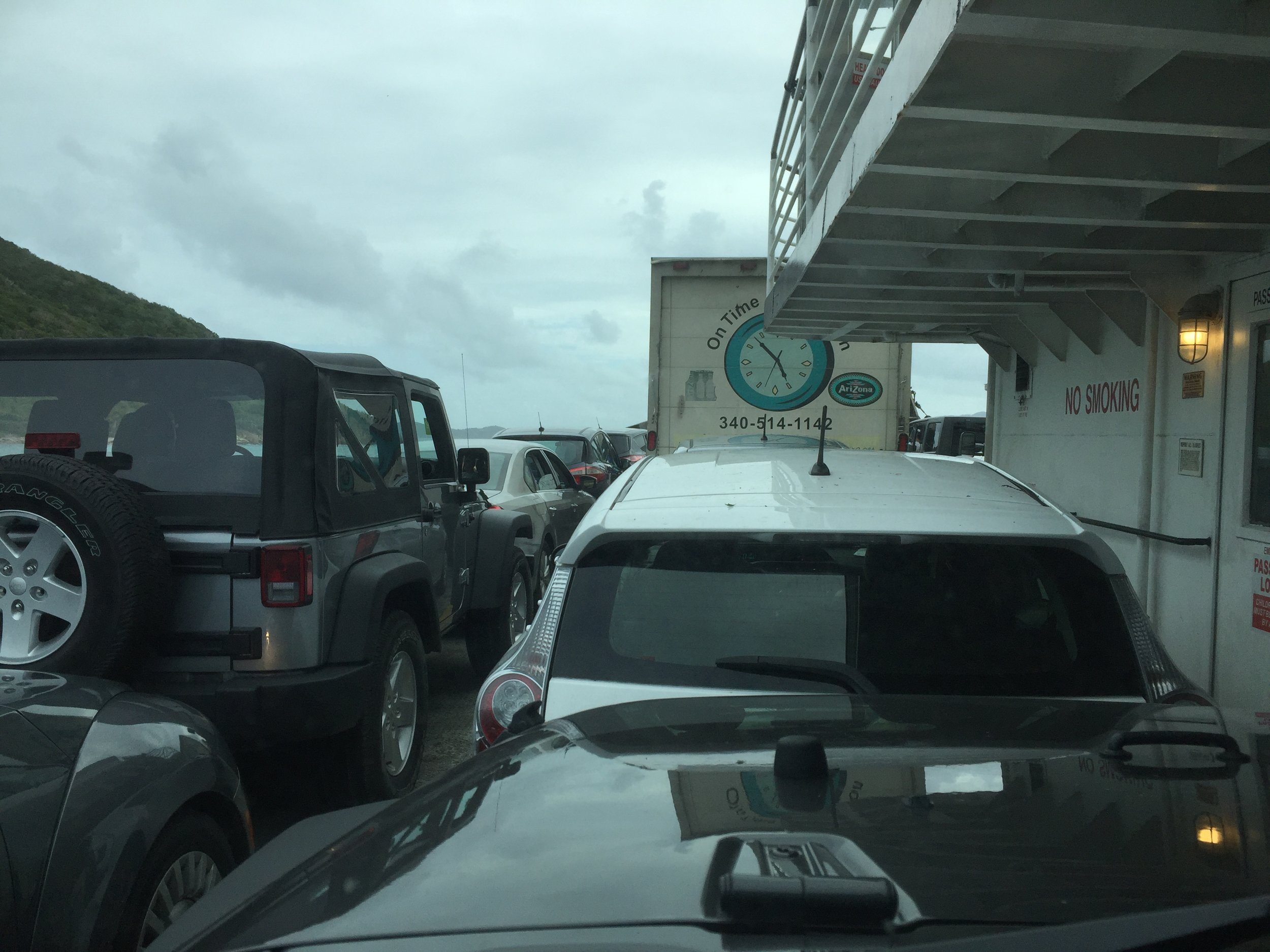 Aboard the car ferry