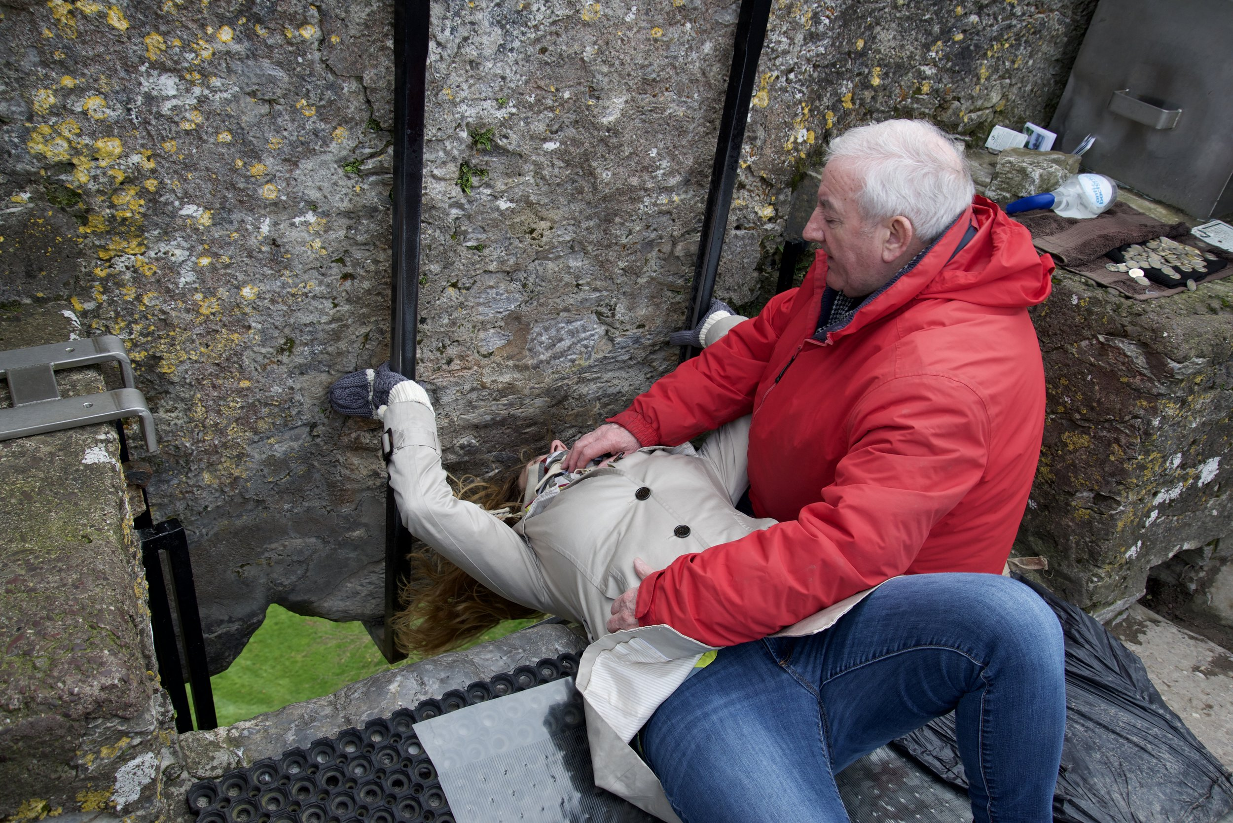 Kissing the Blarney Stone is awkward, and this guy must get totally bored with his job, but I thought it was totally awesome.