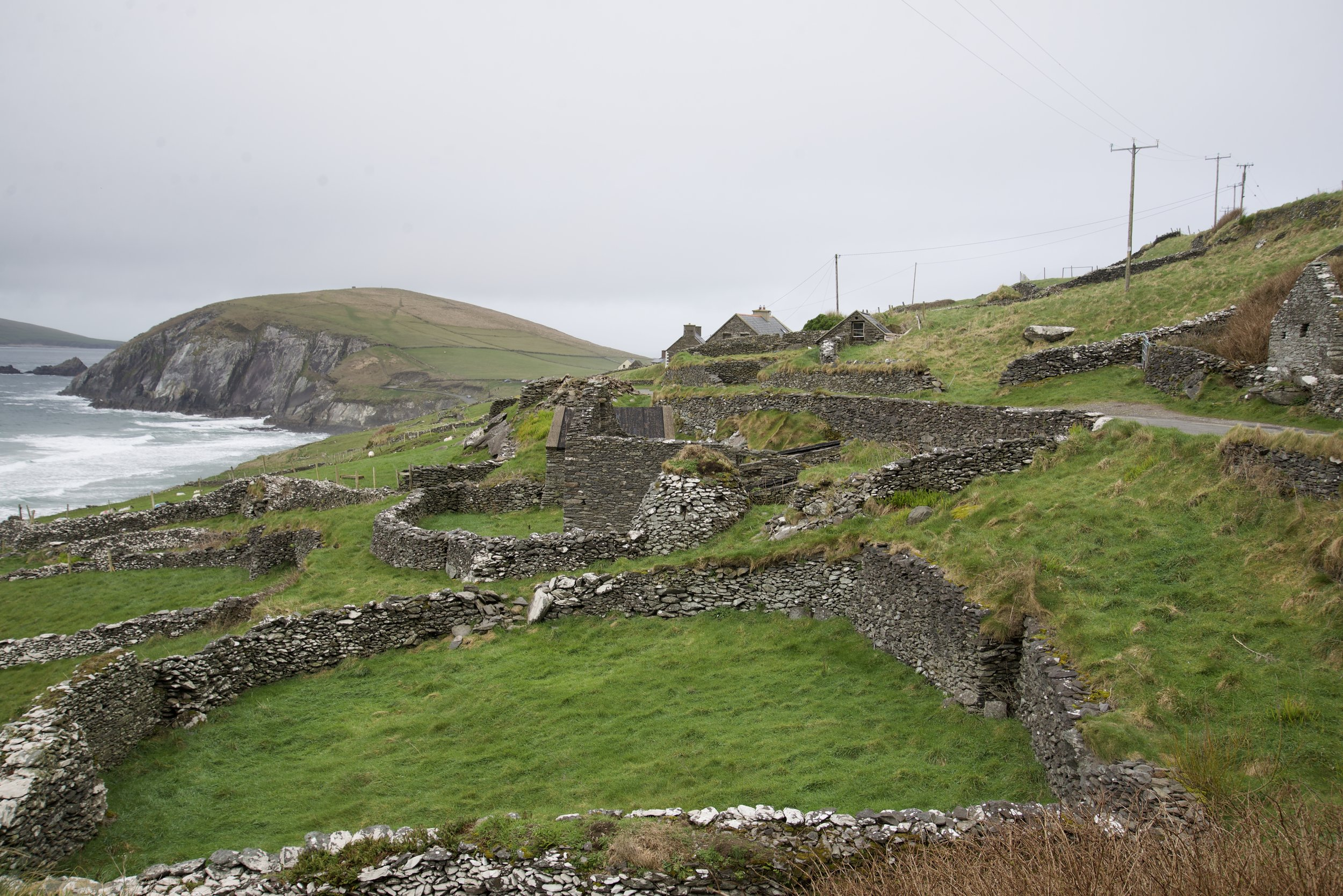 Archaeological scenes like this abound all over. Slea Head appears in the background.