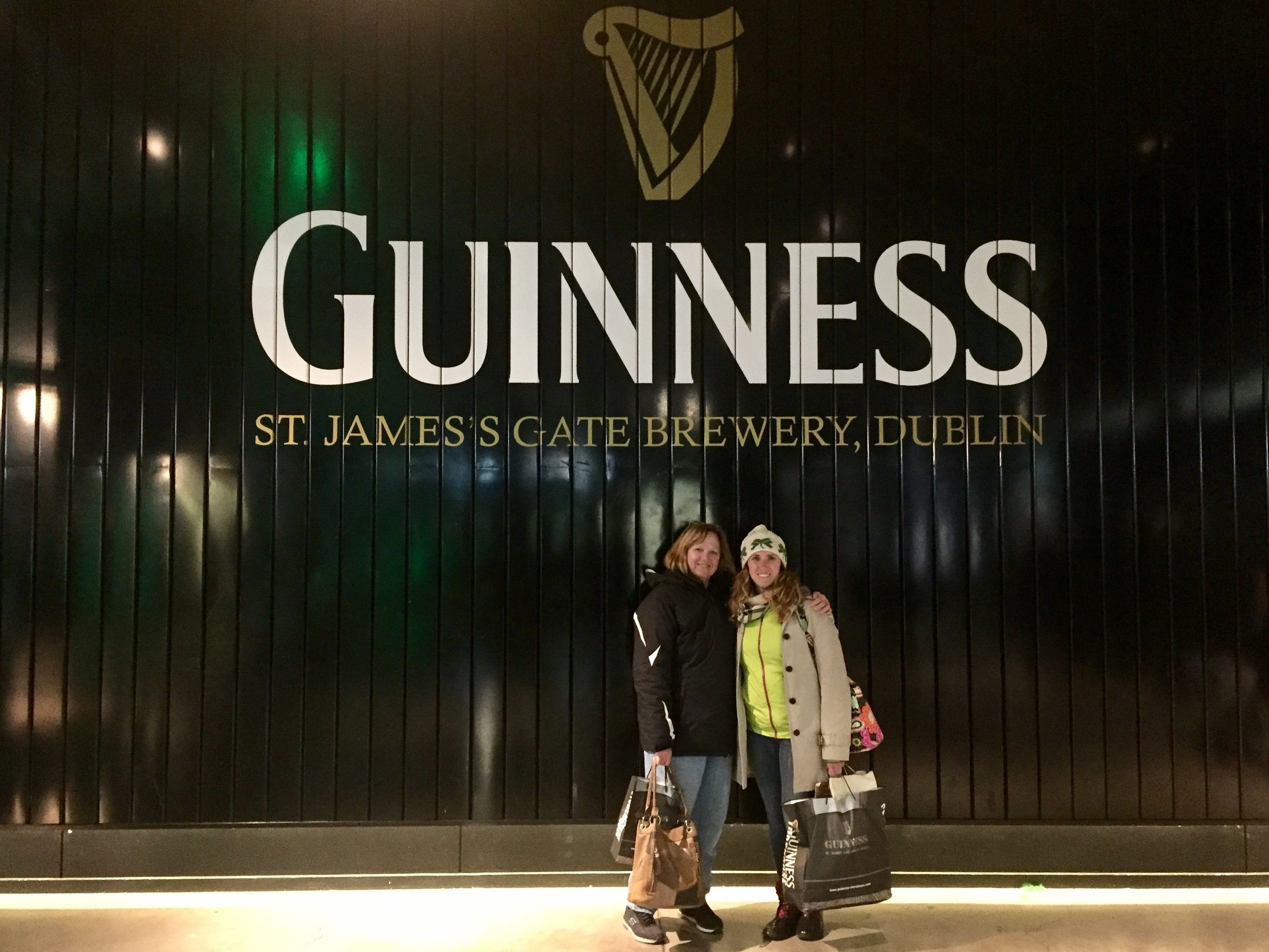 Me and my momma at the Guinness factory.