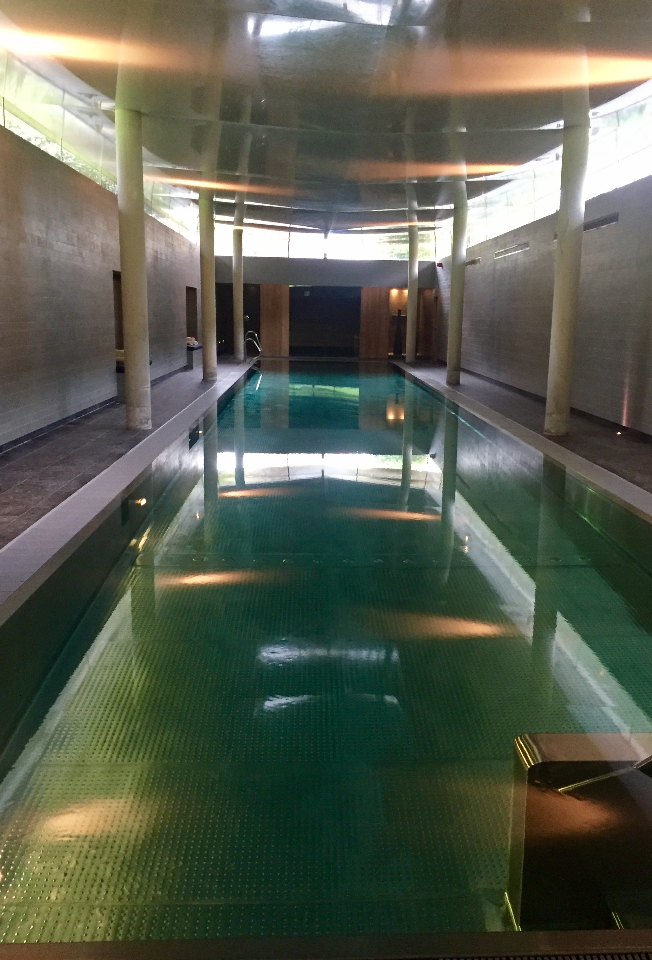 The pool at the spa