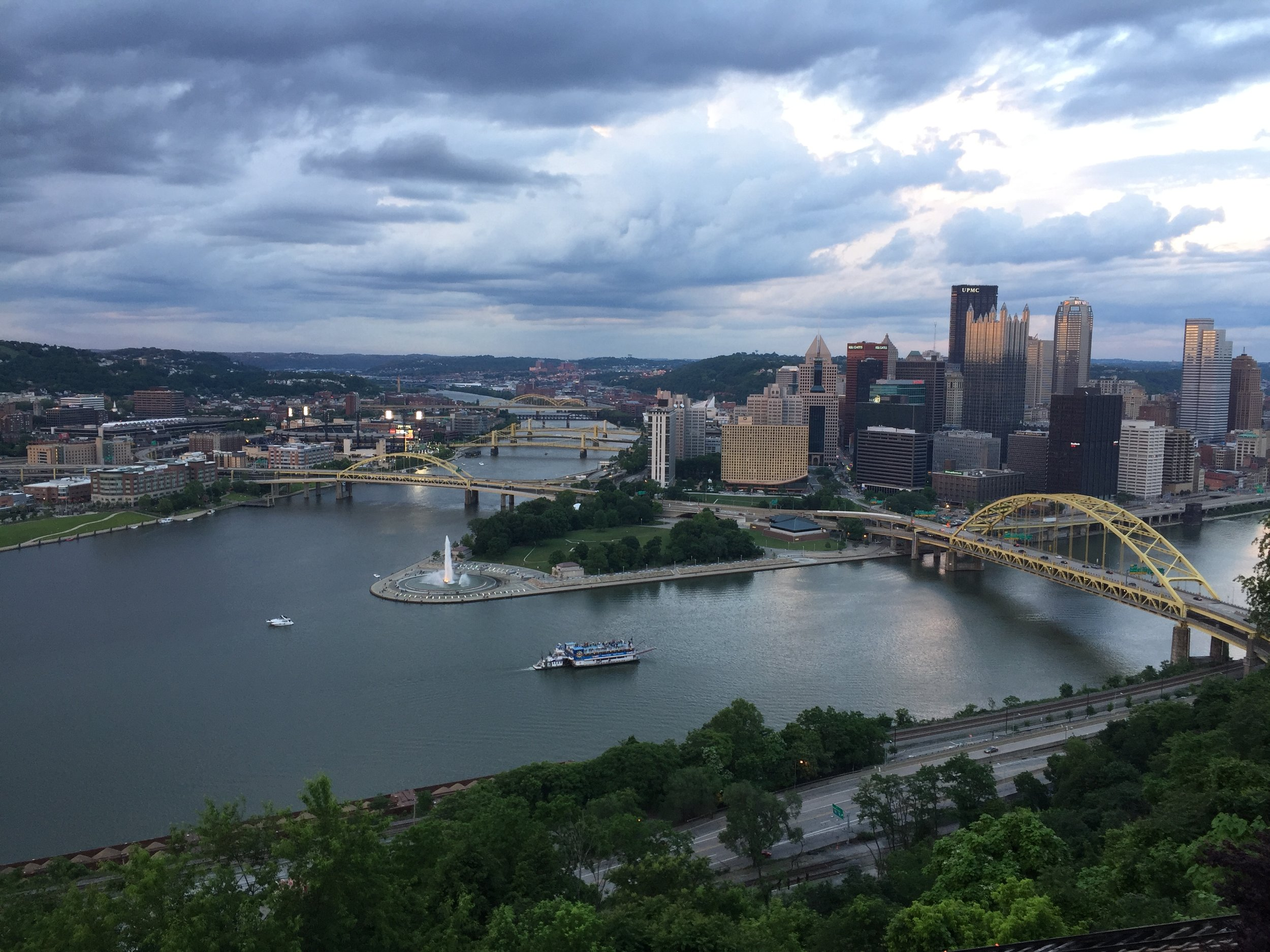 The view looking down from the Duquesne Incline