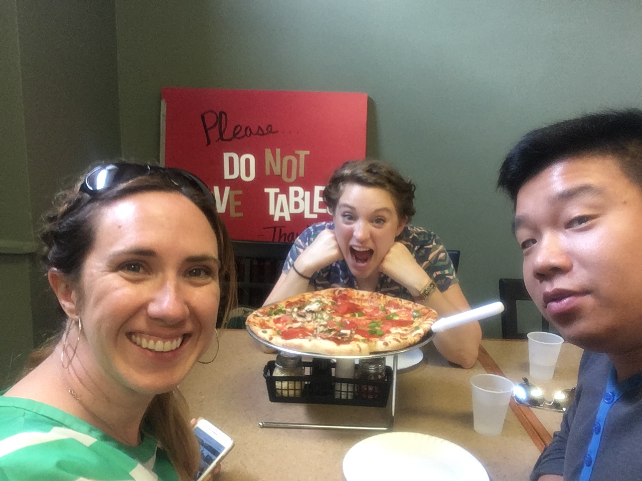 Paddler's Pizza. We were all starving.