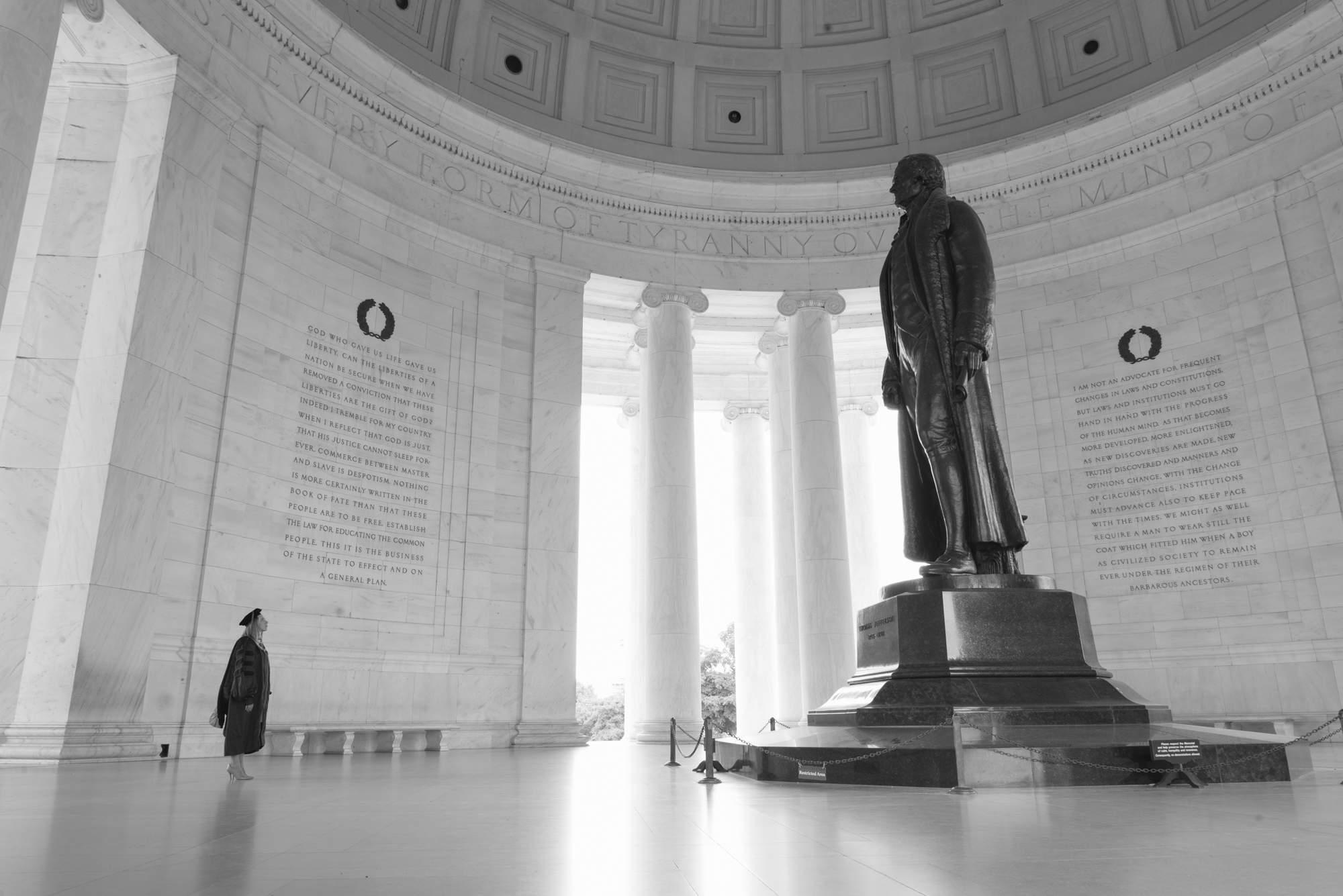 Larger than life at the Thomas Jefferson Memorial