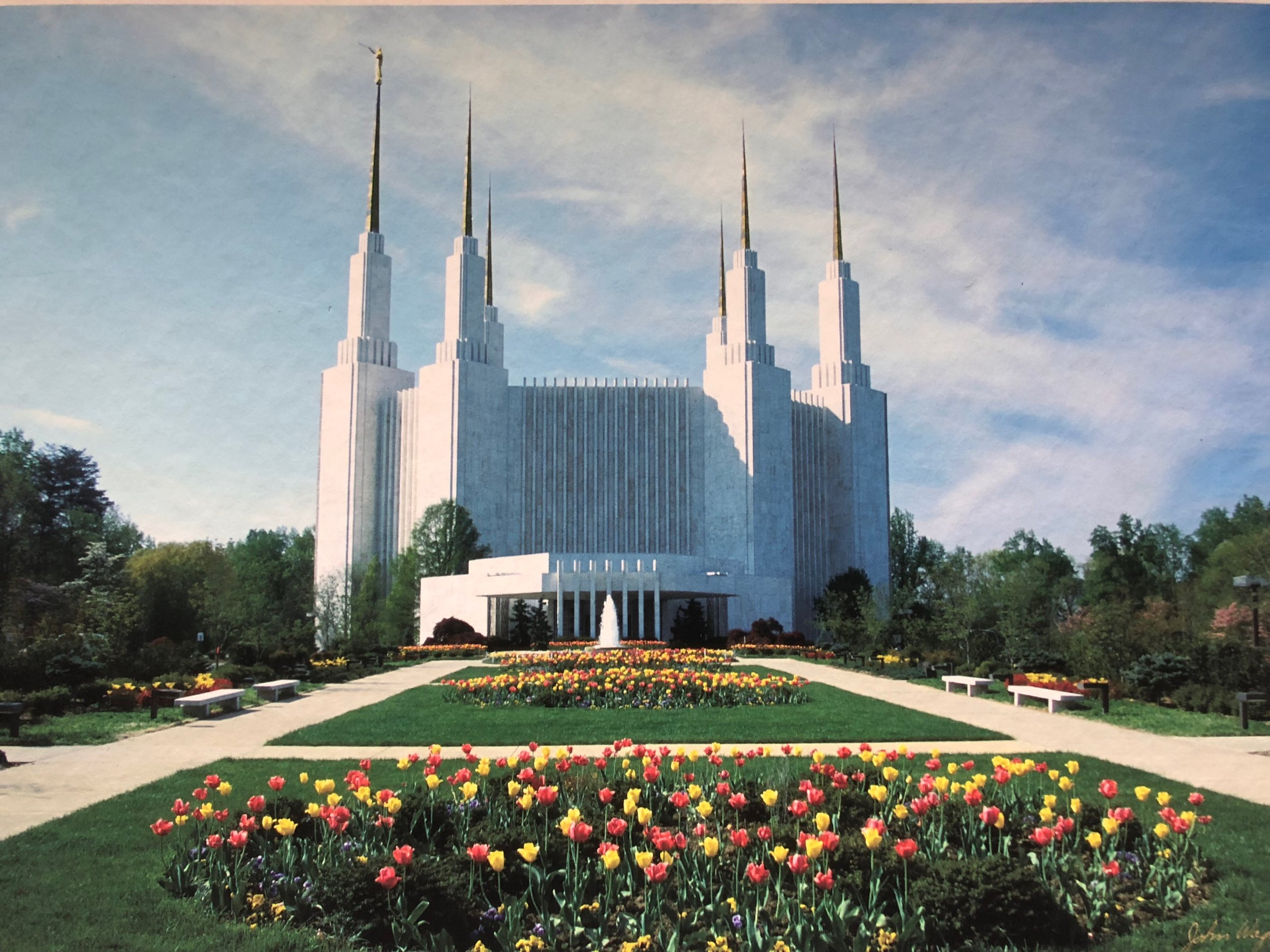The LDS temple in Washington, D.C. - a place full of sacred moments where I could always find peace.