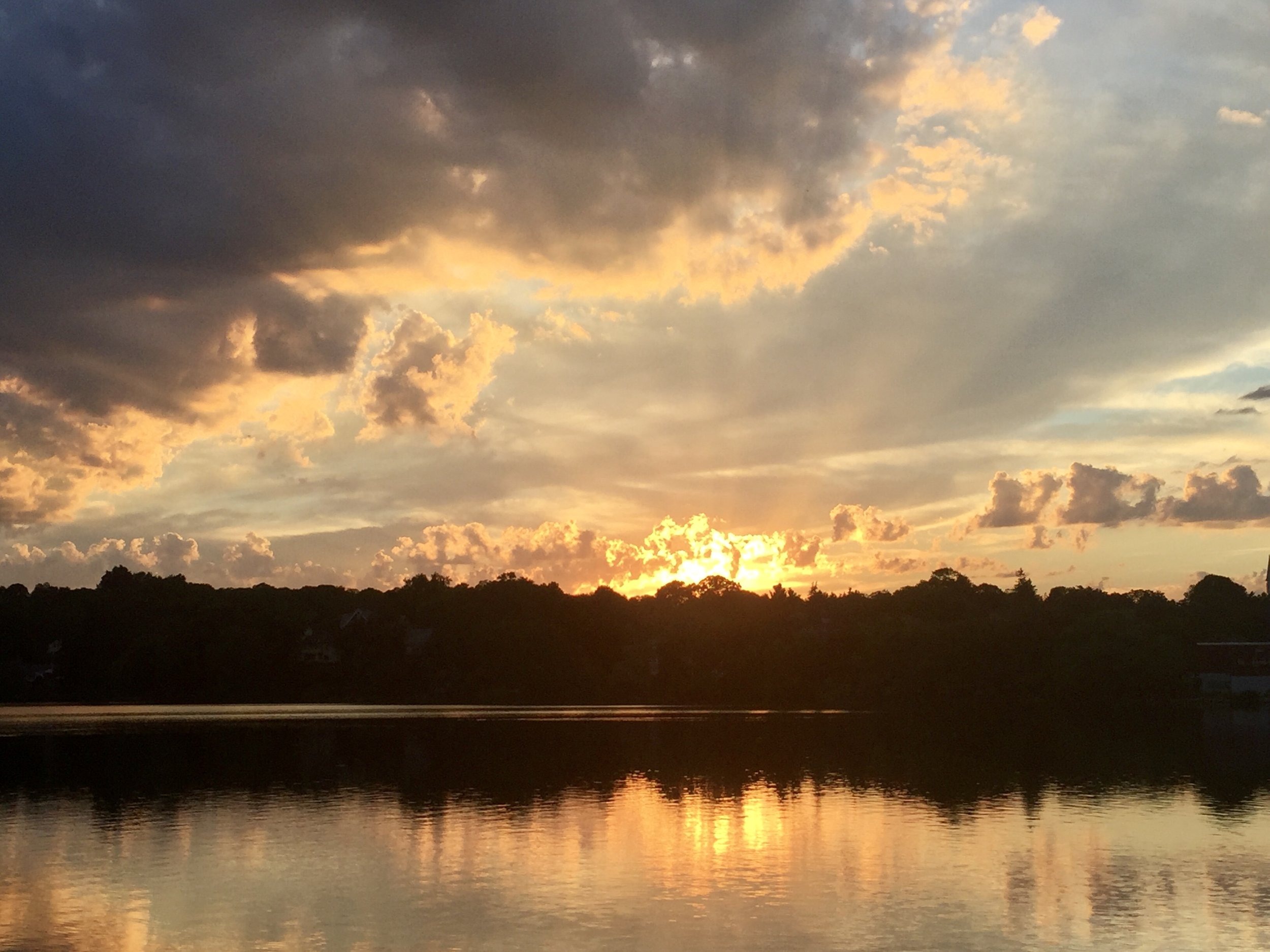 Sunset over Spy Pond