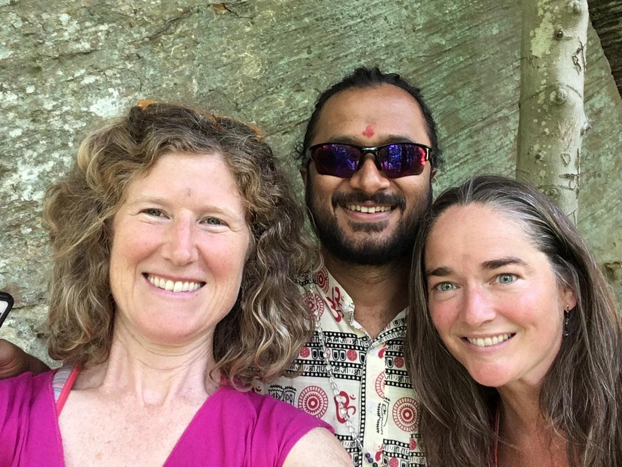Sarah Belzile, Yogi Amitram and Leila Christina Ananda