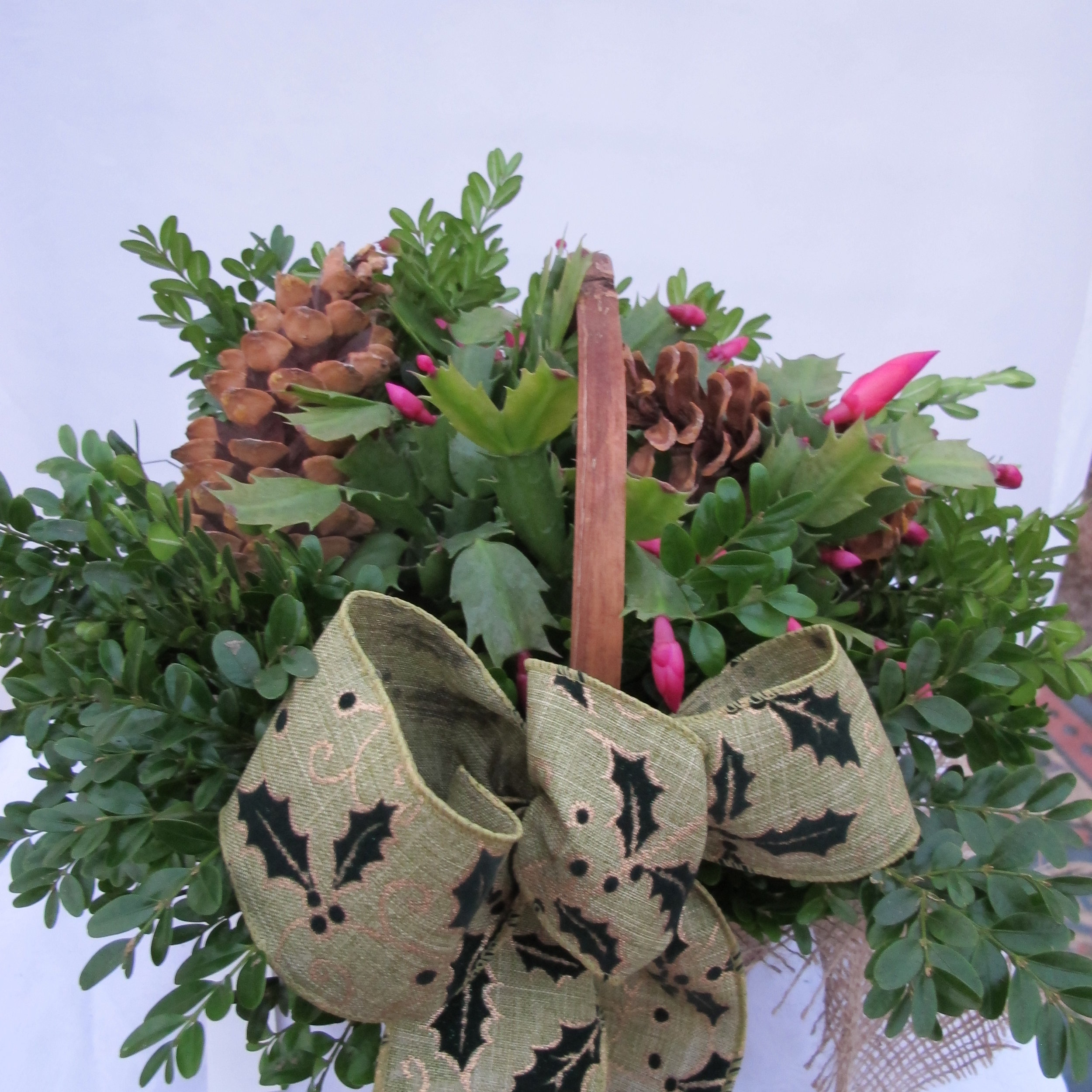 B- Basket with decorated Christmas cactus.JPG