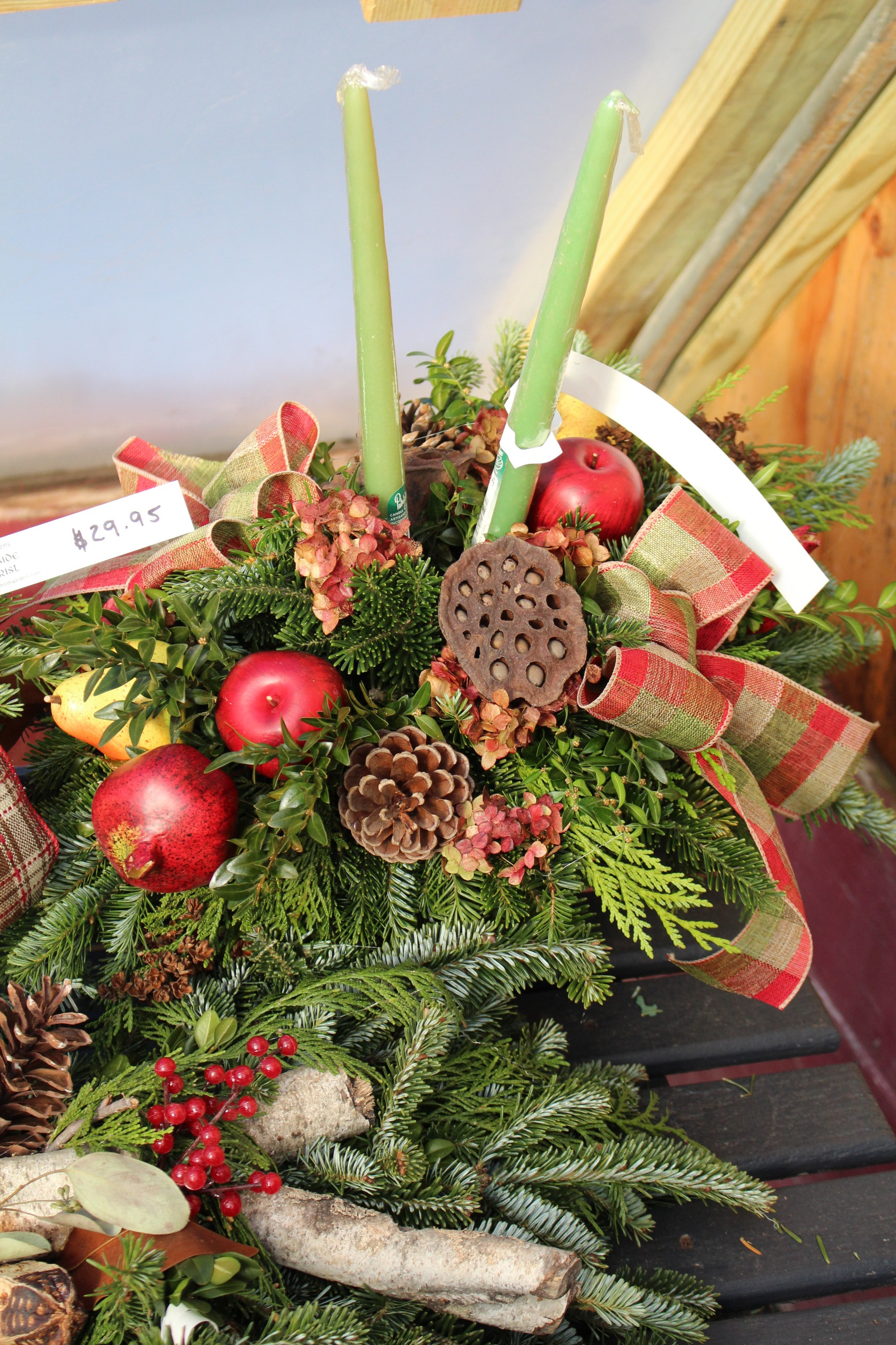 C -Center piece with honeycomb and nature accents close up.JPG