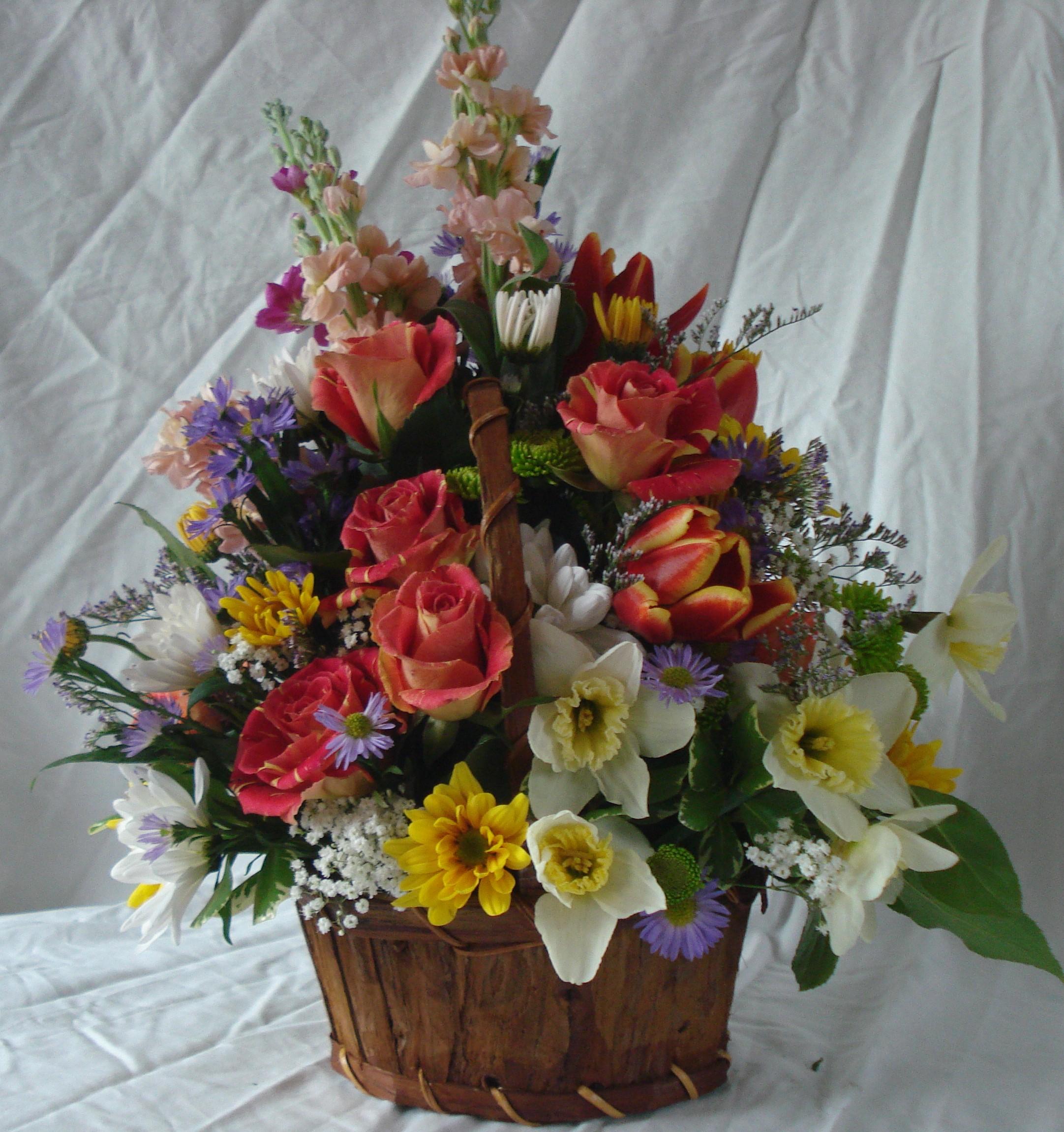 B- Spring flowers with roses.JPG