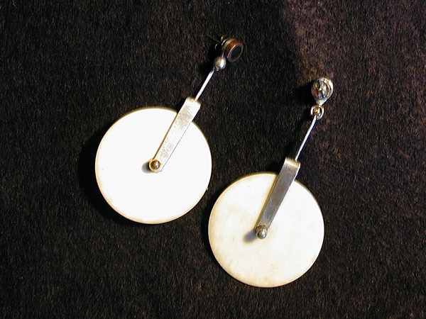 Pure Ivory Pizza Cutter Earrings