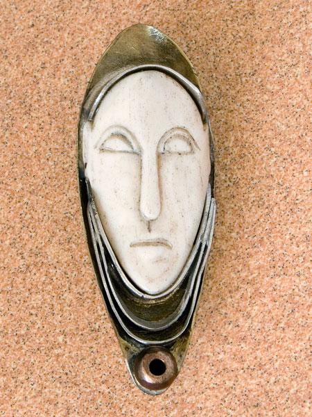 Ivory Face Pendant