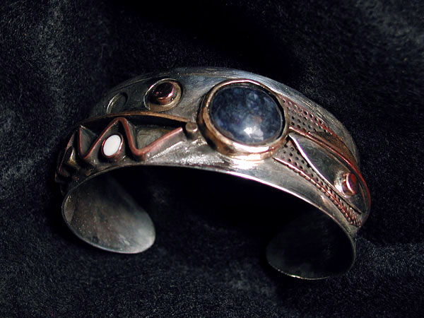 Malachite Cabochon Cuff Bracelet