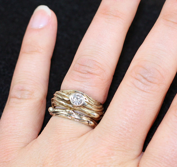 """Diamond River"" Rings"