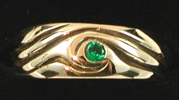 Yellow Gold Emerald Wedding Ring