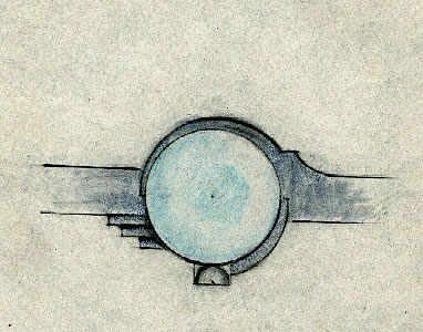 Brooch Technical Drawing
