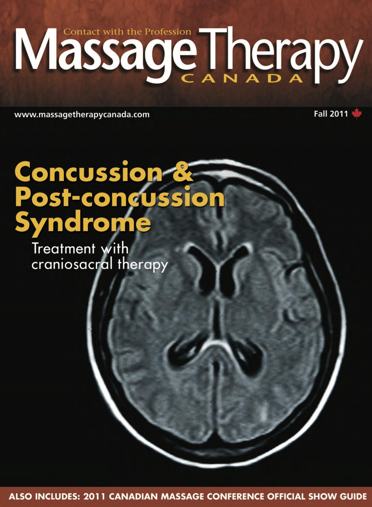 Massage Therapy Canada - Fall 2011