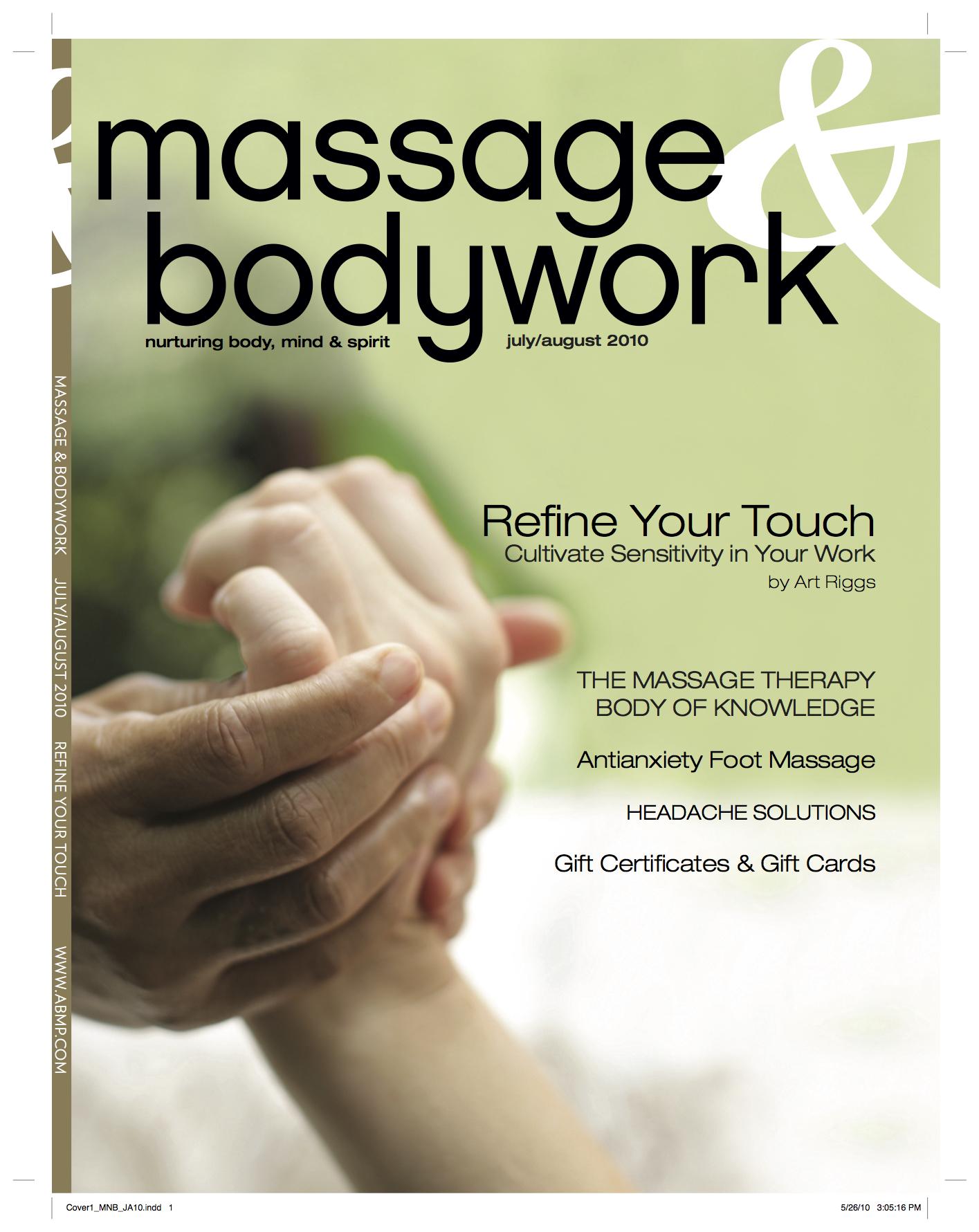 Massage & Bodywork - July / August 2010