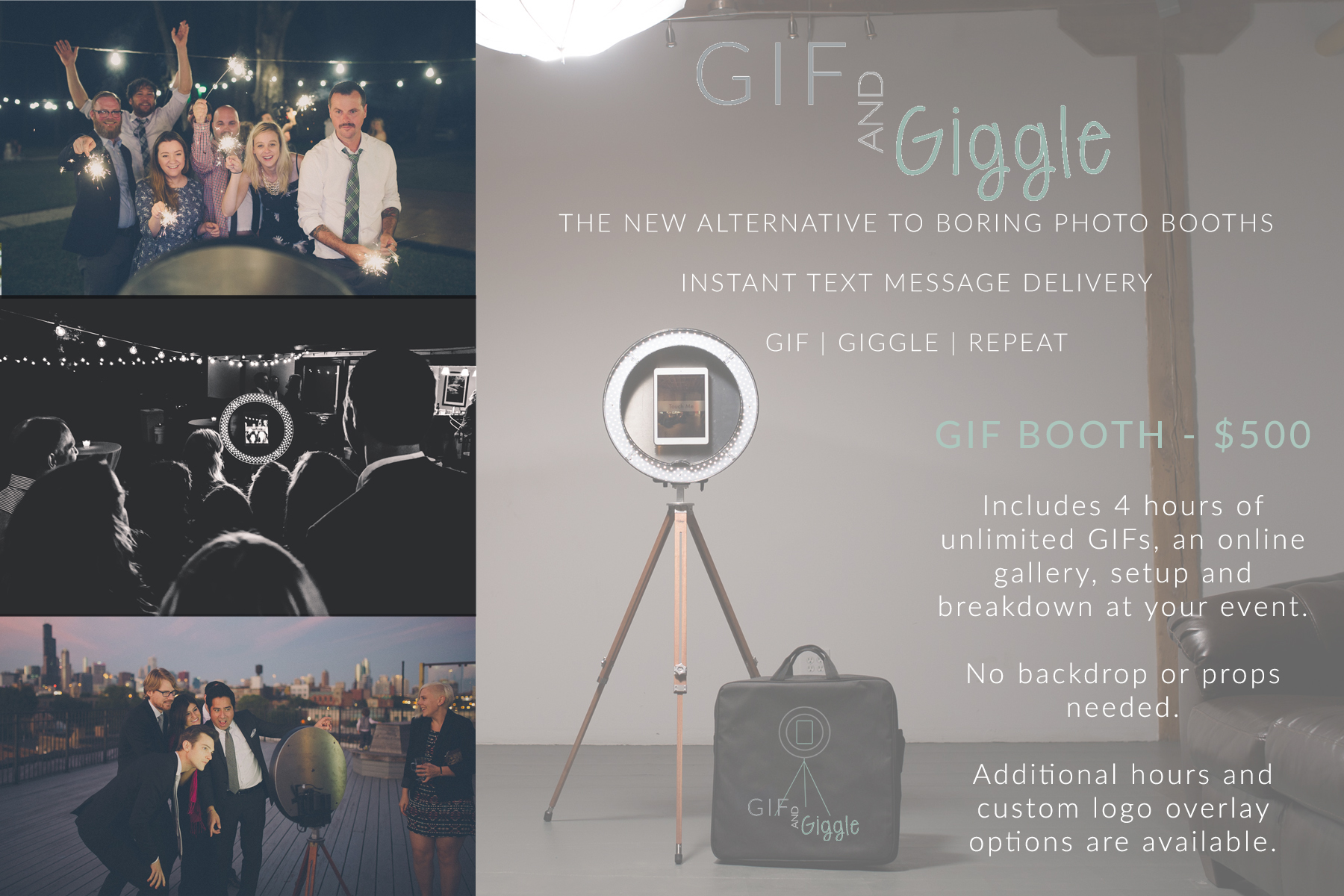 About the GIF and Giggle GIF Booth