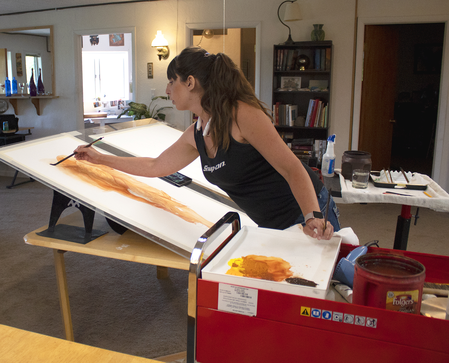 ABOUT MY WORK - ALL OF MY PAINTINGS ARE PAINTED ON ARCHES 140LB COLDPRESS WATERCOLOR PAPER. I THEN MOUNT THEM ON GESSOED, ACID FREE HARDBOARD AND VARNISH THEM WITH A UV RESISTANT VARNISH WHICH PROTECTS THEM AND ELIMINATES THE NEED FOR THEM TO BE MOUNTED BEHIND GLASS. BELOW YOU WILL FIND SOME SHORT VIDEOS OF PAINTINGS IN PROGRESS AND MY MOUNTING AND VARNISHING PROCESS.FOR MORE INFORMATION OR IF YOU HAVE ANY QUESTIONS, PLEASE FEEL FREE TO CONTACT ME, I WOULD BE MORE THAN HAPPY TO TALK TO YOU ABOUT MY WORK AND ANSWER ANY QUESTIONS YOU MAY HAVE. ENJOY!