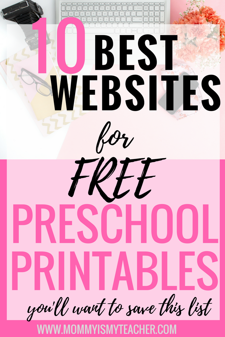 Love this great list of websites to get free preschool printables for my homeschool preschool, it will make teaching my kids a breeze! thanks for pinning! @Mommymyteacher