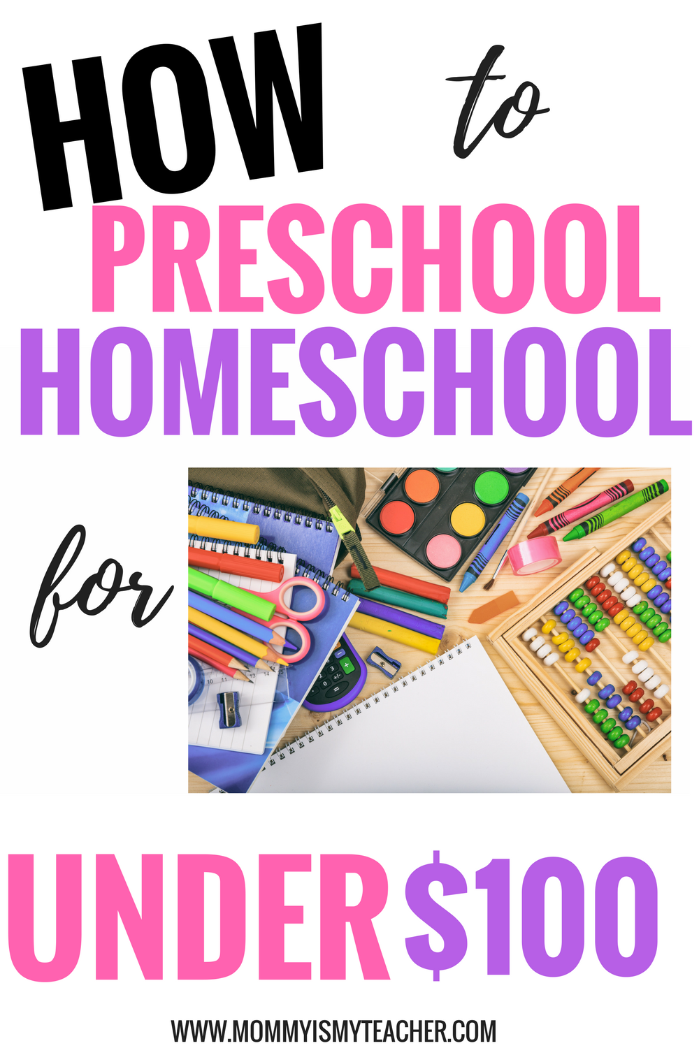 wow, I love this preschool homeschool curriculum on a budget! This is great for preschool activities at home.