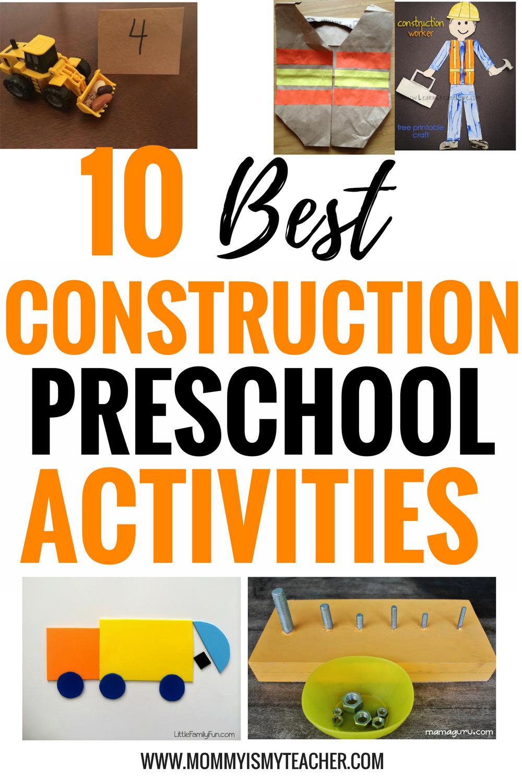 10 Hands On Preschool Construction Activities Mommy Is My Teacher