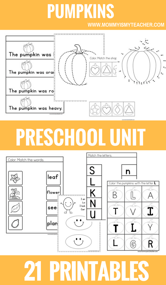 Wow, I love these fun pumpkin preschool printables! They are great for preschool homeschool and preschool activities at home!