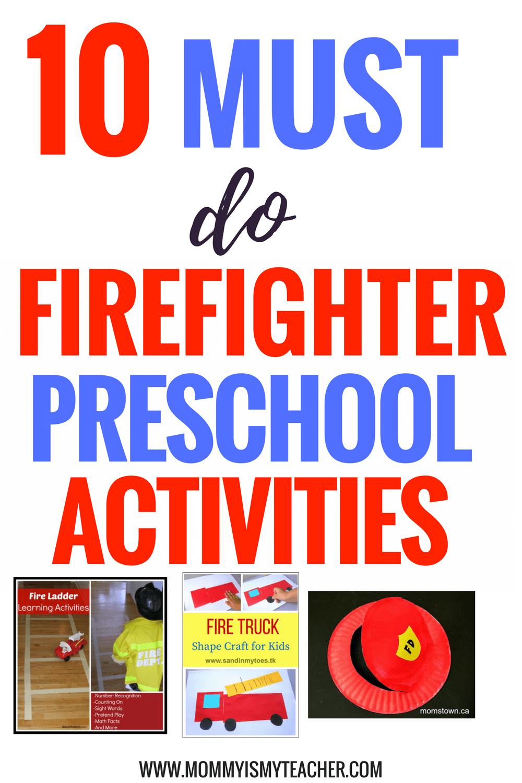10 Best Firefighter Theme Preschool Activities Mommy Is My Teacher