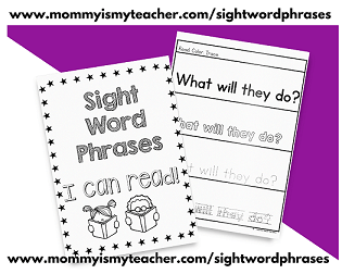 Sight Word Phrases- Set 1 - Digital Download.79 Pages of Sight Word Phrases Practice
