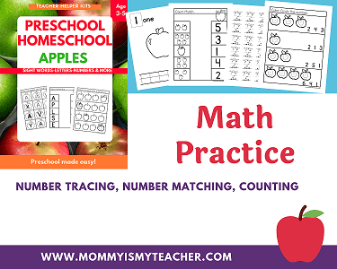 PRESCHOOL HOMESCHOOL MATH
