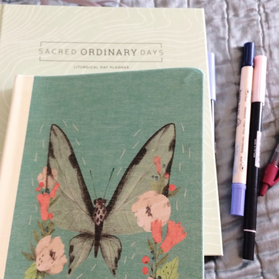 journal and sacred ordinary days planner.jpg