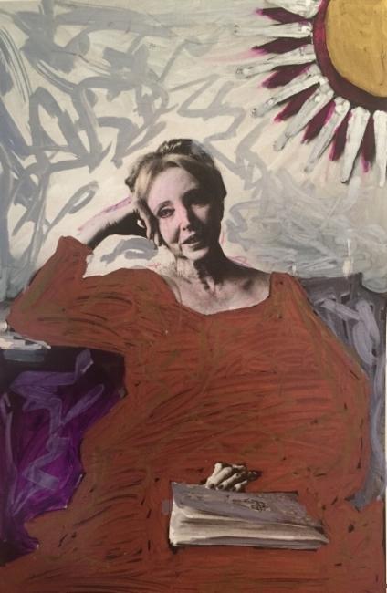 Anaïs Nin,  2016. Photo by Jill Krementz, paint and ink by Mark Gunnery.