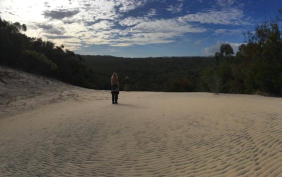Fraser Island sand blow - Queensland