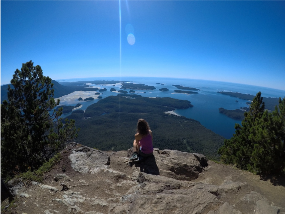 Top of the Lone Cone hike, 730m high – Tofino, Vancouver Island