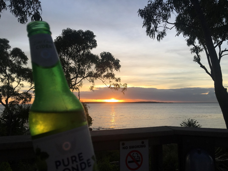 And what better way to wind down after a massive day then a chilled cider, sunset, sugar gliders and great company.