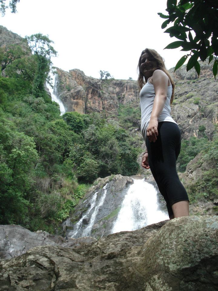 At one of the beautiful waterfalls from Serra da Canastra, Minas Gerais, where you can find both Mata Atlantica Forest and the brazilian Cerrado biomas.