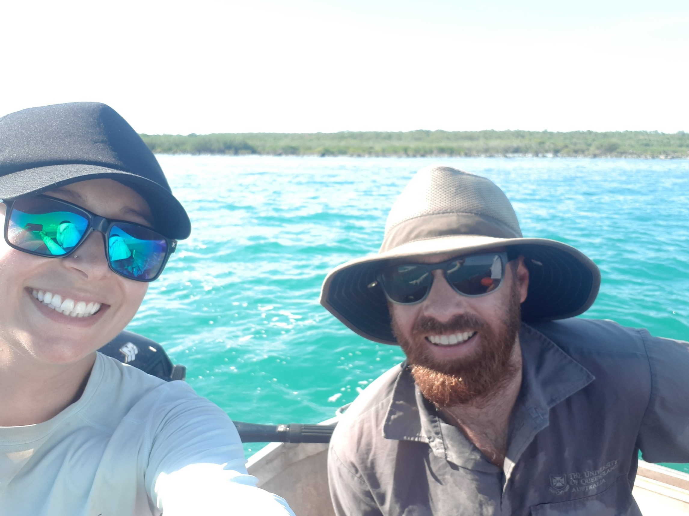 Perfect way to spend my final day on Groote for 2019- fishing on a tinny with 2 Andrews!