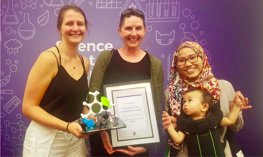 WINNERS!   The Performance Lab  and  Anindilyakwa Land Council  were awarded UQ's Faculty of Science's Award for best Partnership and Collaboration in 2018. Thanks Kaylah, Amanda, Ami and mini member Maalik - receiving the award for the entire team.