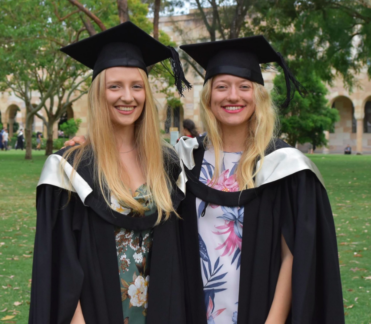 The 'NOT SO TWINS'  Ellie  and  Hannah   graduated with First Class Honours  this week. Congratulations ladies - well deserved!