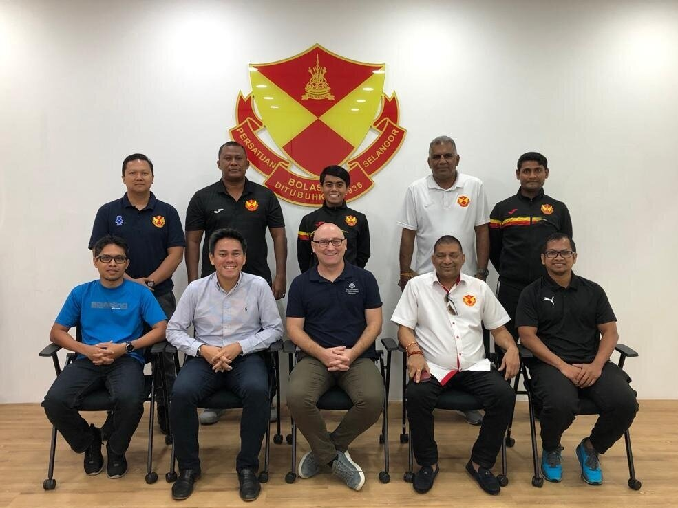 Professor Robbie  was in Malaysia recently to present research report on the technical development of their junior players to the General secretary of FA Selangor and his coaches. More updates on this amazing research collaboration soon!