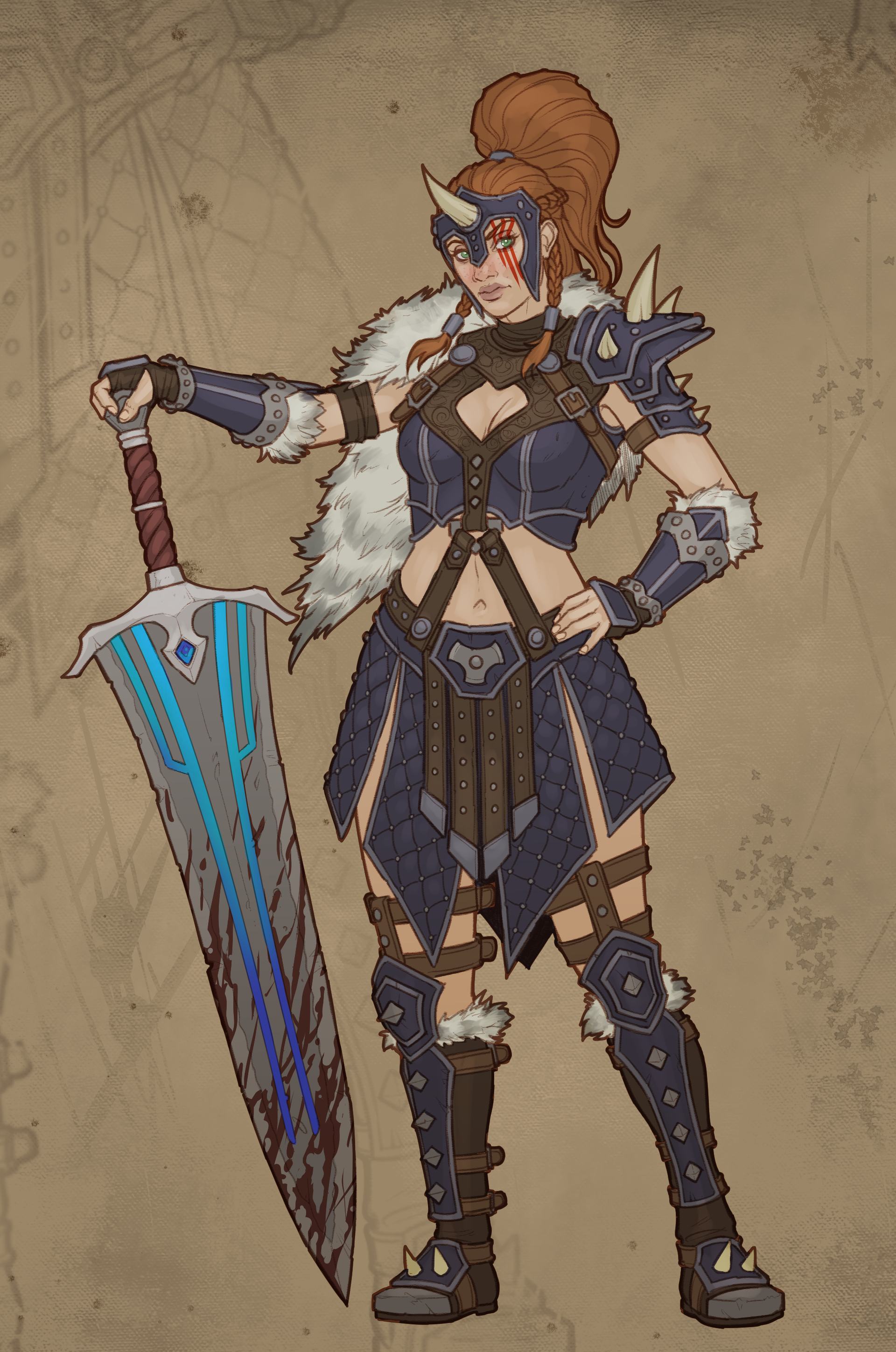 Level 10 barbarian Design created by  Zach Fischer Illustration