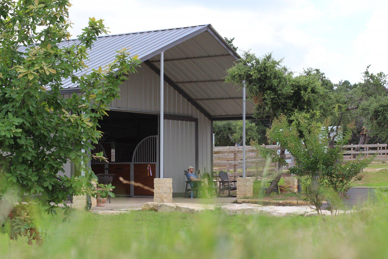 Image of horse boarding in austin texas at coraggio equestrian