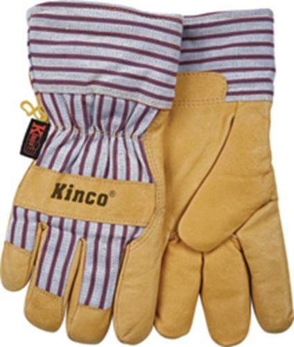 I like these insulated Kinco Gloves, they have more dexterity than the three fingered gloves, and the insulaton keeps the heat out as much as it keeps your hands warm in the winter. These have been really durable, slow to wear through and resistant to heat and abrasion.   https://www.amazon.com/Tillman-Premium-Cowhide-3-Finger-Welding/dp/B003GM83IA/ref=sr_1_8?keywords=Three+finger+welding+gloves&qid=1556723449&s=gateway&sr=8-8   $15.99 Amazon