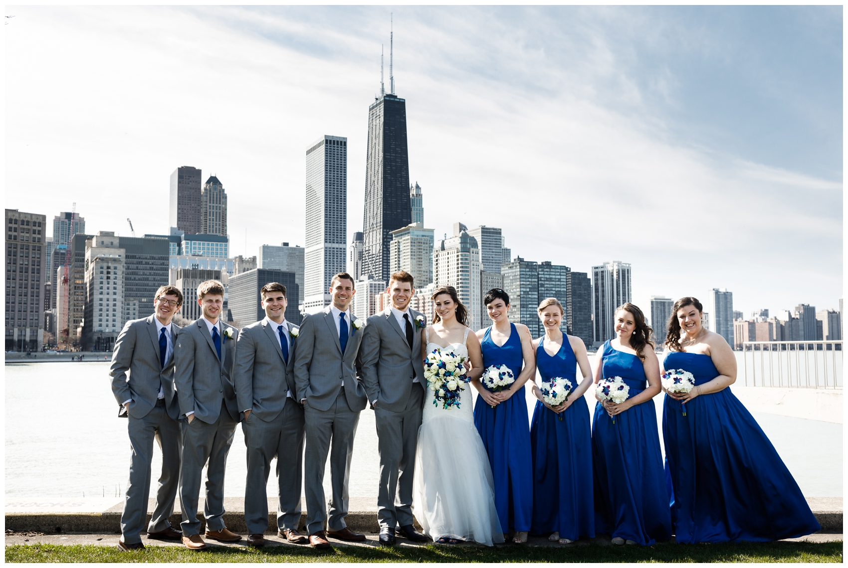 wedding party in Chicago's Olive park